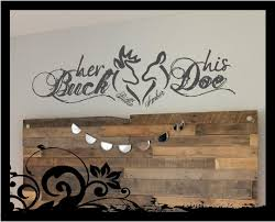 His And Hers Bedroom by Personalized Her Buck His Doe Vinyl Wall Lettering Decal