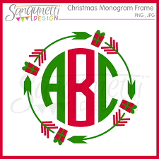 monogram christmas sanqunetti design christmas tribal monogram frame clipart