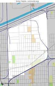 12th ward chicago map map of building projects properties and businesses in archer