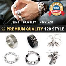 ring bracelet necklace images Qoo10 ring necklace men 39 s bags shoes jpg