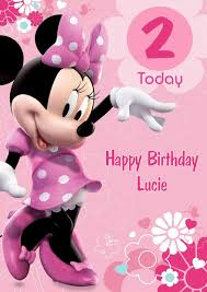 minnie mouse birthday personalised minnie mouse birthday card pink