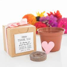seed paper favors mini seed paper heart garden gift set party favors special day