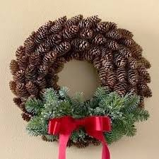a christmas wreath out of cones 898 ideas for garden pinterest