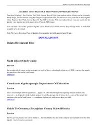 9th Grade Algebra 1 Worksheets Algebra 1 Eoc Practice Worksheets Florida Mambomusic Us
