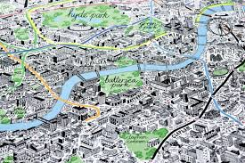 london map artist sketches quirky map of the capital complete