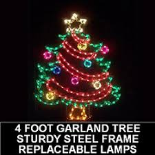 Outdoor Lighted Garland Lighted Outdoor Decorations Lighted Trees Christmastopia Com