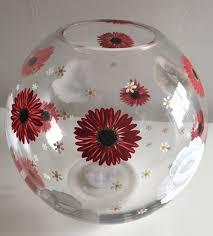 vase birthday gift christmas gift gift for her red silver