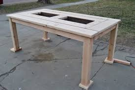 Build Wood Outdoor Furniture by Remodelaholic Build A Patio Table With Built In Ice Boxes