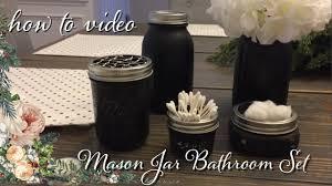 Bathroom Canisters Mason Jar Bathroom Set U0026 How To Make Chicken Wire Youtube