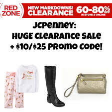 jcpenney huge clearance markdowns 10 off 25 promo code