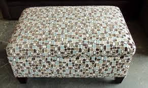 Fabric Storage Ottoman by Barnett Furniture Rowe Furniture Hess Storage Ottoman