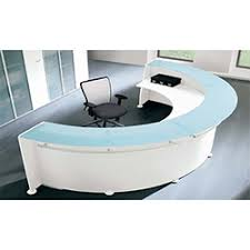 Circular Reception Desk Circular Reception Desk White Glass Counter Rd14 Huntoffice Co Uk