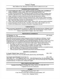 example of a nurse resume examples of registered nurse resumes
