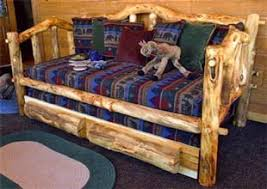 rustic log daybeds