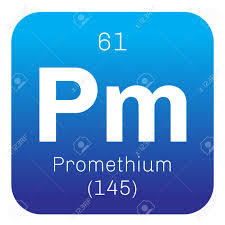 radioactive elements on the periodic table promethium chemical element radioactive element colored icon