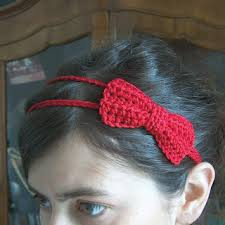 crochet hair bands creativeyarn headband with bow crochet crochet