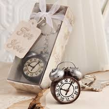 wedding favor keychains wedding favor or bridal shower favor the vintage alarm clock