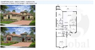 single family home floor plans champions gate floor plans
