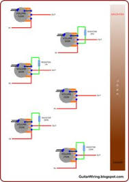 2 pickup blend pot guitar wiring inspiration pinterest