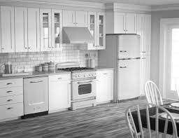 kitchen colors with white cabinets and black appliances patio