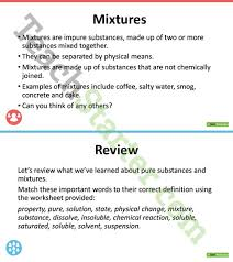 pure substances and mixtures science powerpoint teaching resource