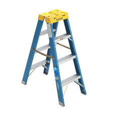 werner 8 ft aluminum step ladder with 250 lb capacity type