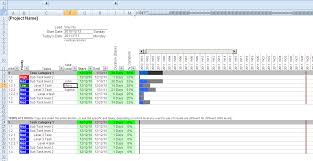 Ms Excel Gantt Chart Template 6 Gantt Chart Exle Excel Invoice Template
