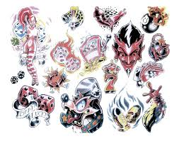 devil 8 ball dice tattoo designs photos pictures and sketches