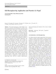 soil bioengineering application and practices in nepal pdf