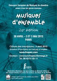 concours musique de chambre fnapec fédération nationale des associations de parents d elèves