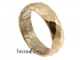 fingerprint wedding bands brent jess custom handmade fingerprint wedding rings