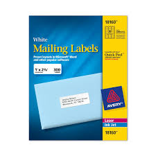 Mailing Label Templates 30 Per Sheet Avery Labels 8160 Self Adhesive Address Labels 30 Labels Per