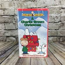 brown christmas picture peanuts classic a brown christmas clamshell vhs cassette