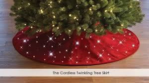 Lighted Christmas Tree Skirt The Cordless Twinkling Tree Skirt Youtube