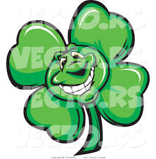 cartoon vector of a happy st patrick u0027s day shamrock clover mascot
