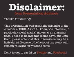disclaimer disclaimer from presentation advisorsthanks for
