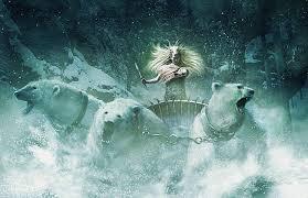chronicles narnia polar bears pulling sleigh queen