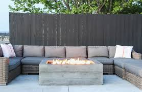 Concrete Firepit Buckshot Firepit With Boardformed Wood Texture Handmade To Order