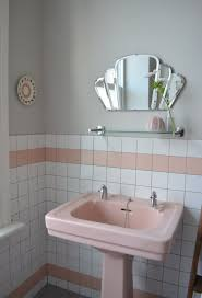spectacularly pink bathrooms that bring retro style back pink pedestal sink in retro bathroom