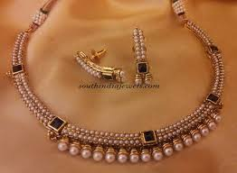 necklace pearl set images Artificial pearl necklace set south india jewels jpg