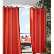 Outdoor Curtains With Grommets Grommet Top Indoor Outdoor Curtain Panel Free Shipping On