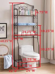 etagere bathroom pewter metal 3 tier the toilet storage etagere bathroom rack