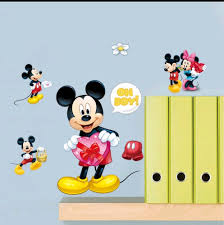 mickey minnie mouse wall decals sticker boy girl baby nursery home mickey minnie mouse wall decals sticker boy girl baby nursery home decor