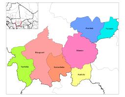 Map Of Mali Cercles Of Mali