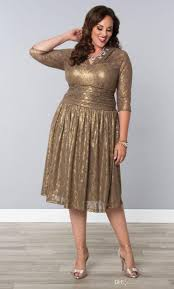 cheap gold lace plus size special occasion dresses sheer sleeves