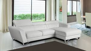 Gray Leather Sectional Sofa by Grey Full Leather Modern Sectional Sofa W Steel Legs