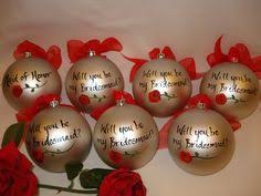 i made these will you be my bridesmaid ornaments for my