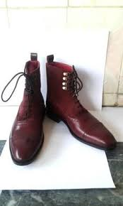 new handmade men u0027s brugundy england leather sole high ankle boots