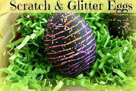 Easter Egg Decorating Ideas With Crayons by Easter Egg Ideas Scratch And Glitter Eggs Kids Play Box