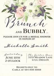 bridal brunch shower invitations watercolor brunch and bubbly bridal shower invitation bridal